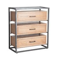 Dexter Industrial Style Chest Of Drawers - Chic Paradis Lux